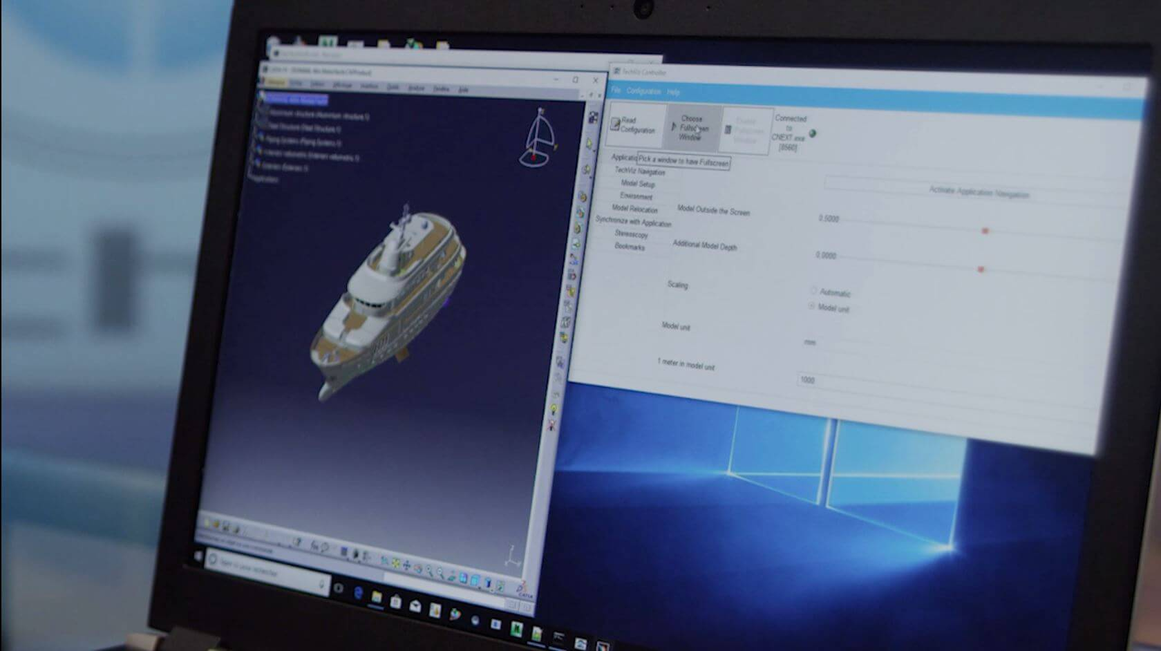 Load your 3D model in catia v5 with TechViz
