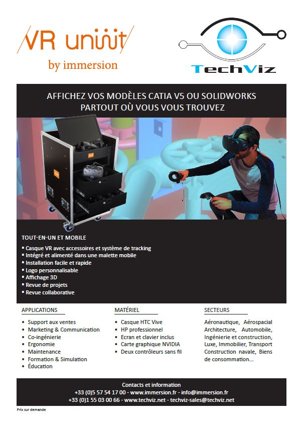 iche produit Immersion TechViz