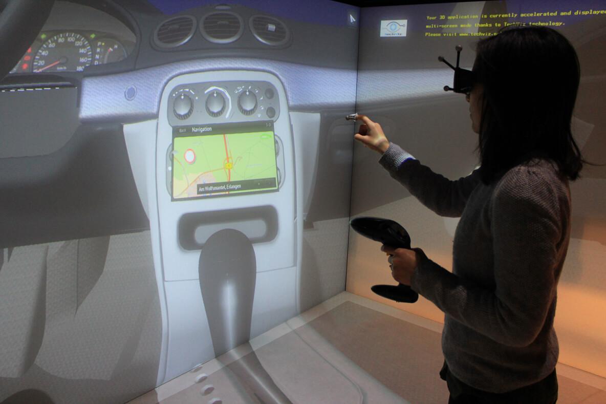 TechViz Finger Tracking option
