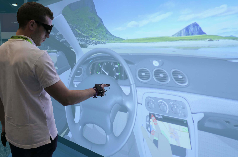 TechViz VR software Finger Tracking