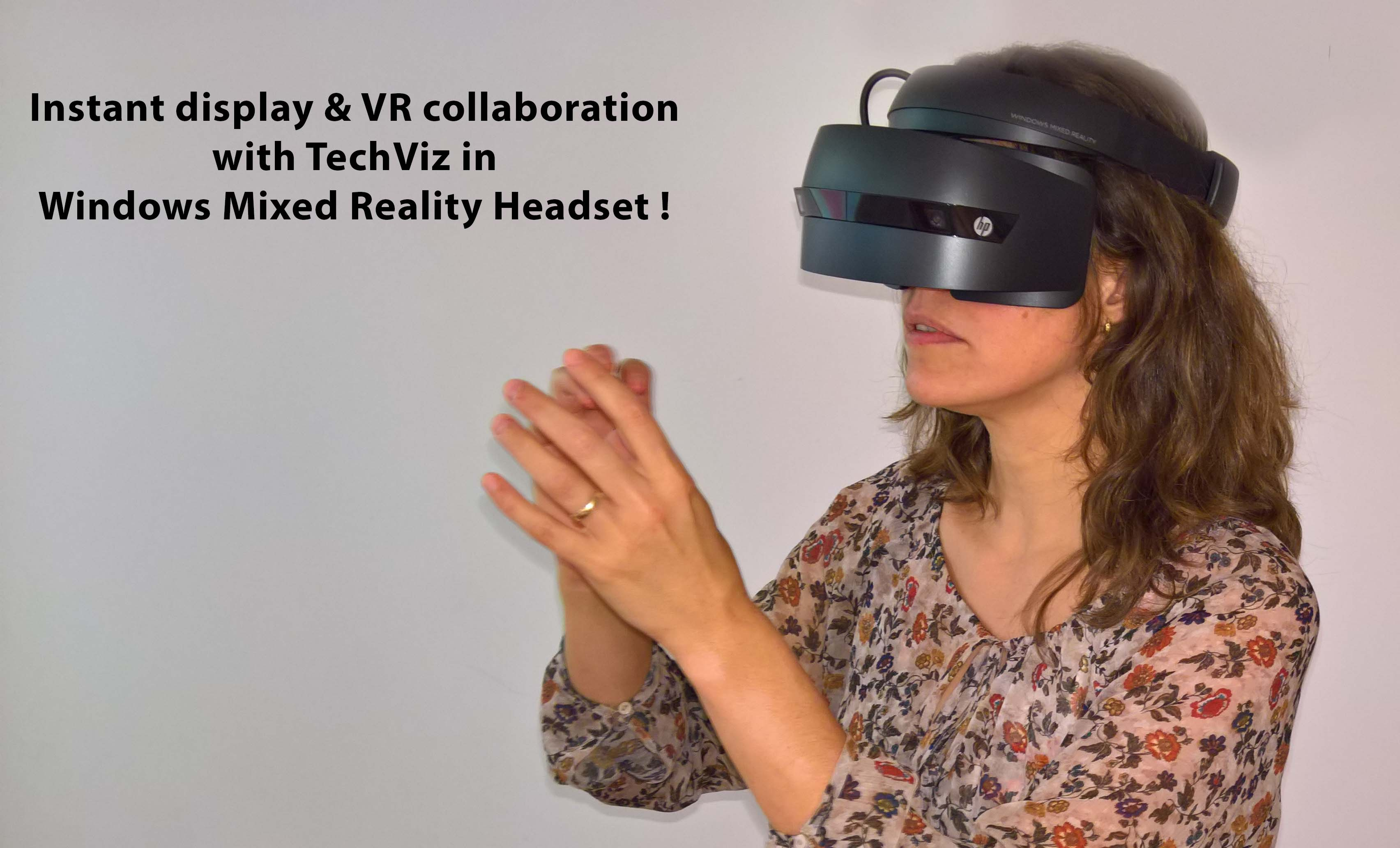 Instant display of TechViz VR collaboration