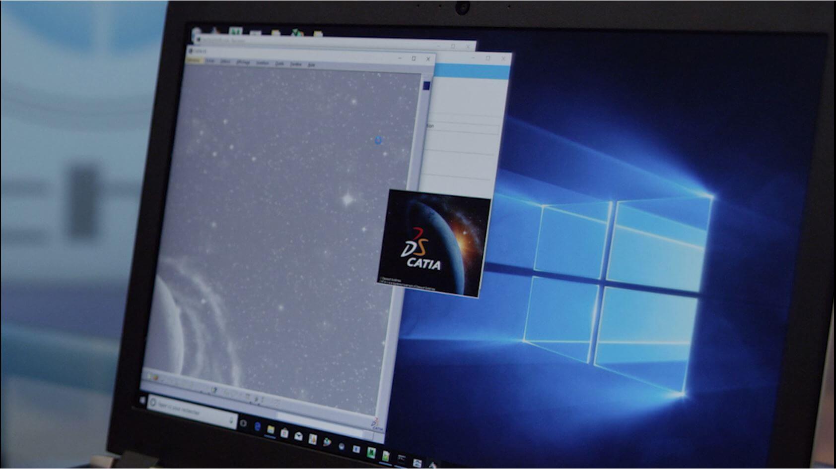 Start Catia V5 with TechViz virtual reality software
