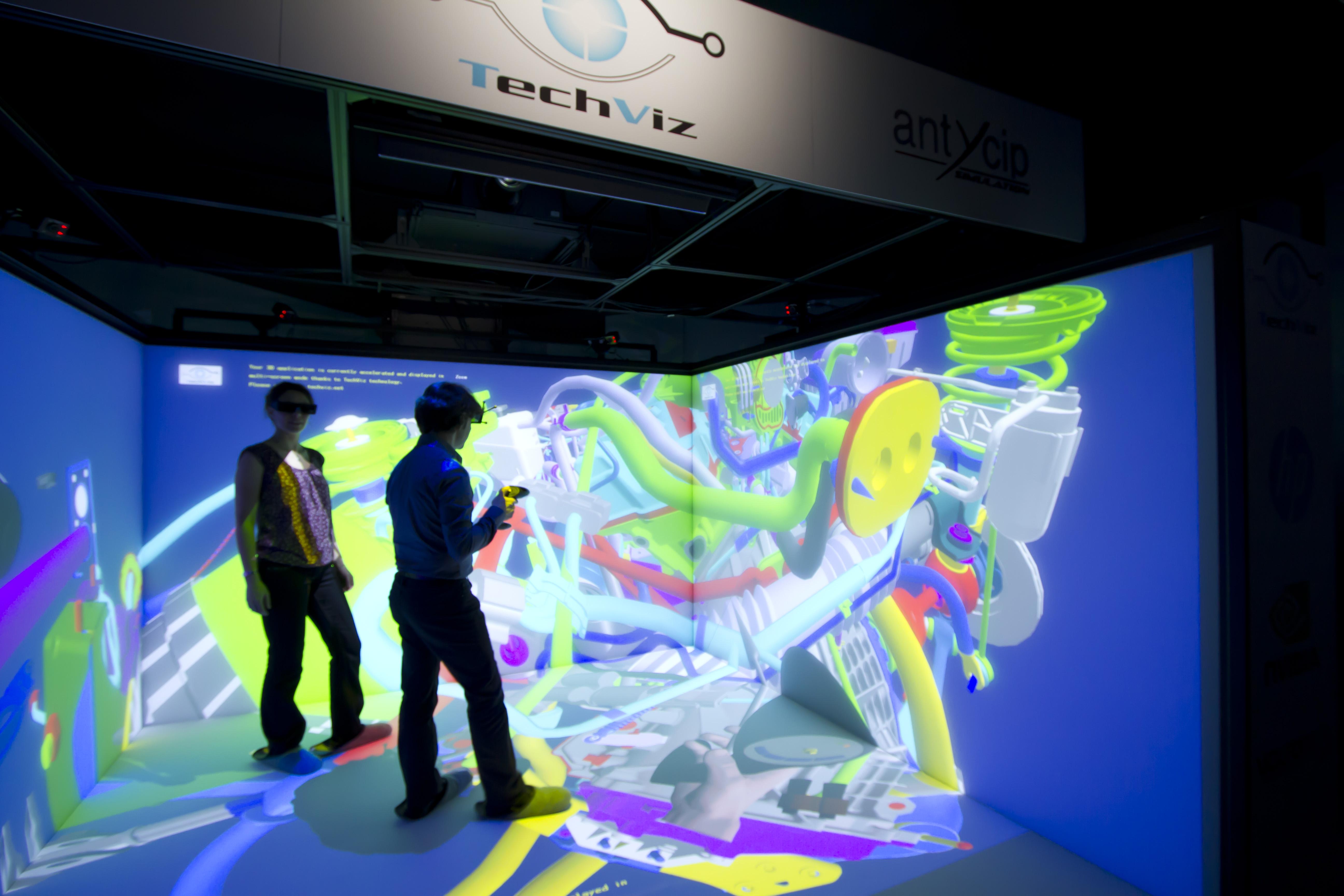 3d Cad Online Techviz Cave Virtual Reality Showroom 3d Visualization