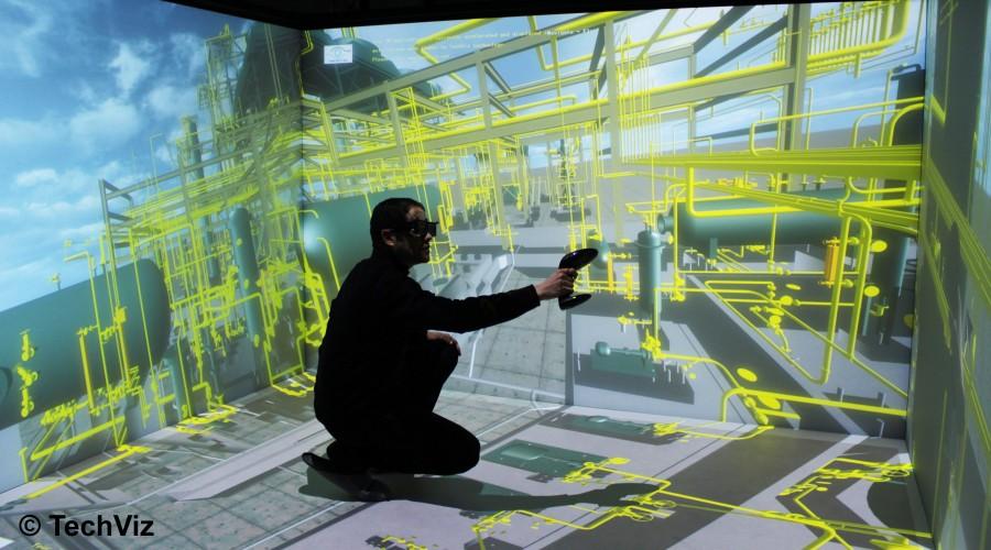 TechViz XL - Virtual Reality Software - Navigate inside your project
