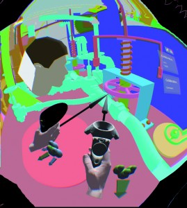 Submarine displayed with TechViz in the HTC Vive