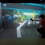 Workstation ergonomics in virtual reality with TechViz on a HTC Vive